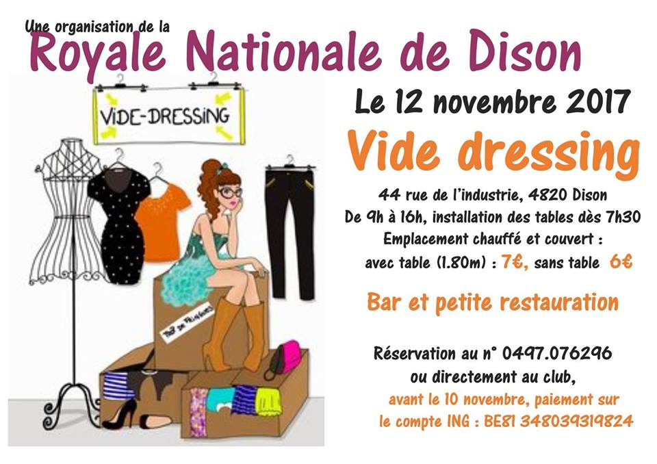 vide dressing de la royale nationale de dison nl. Black Bedroom Furniture Sets. Home Design Ideas
